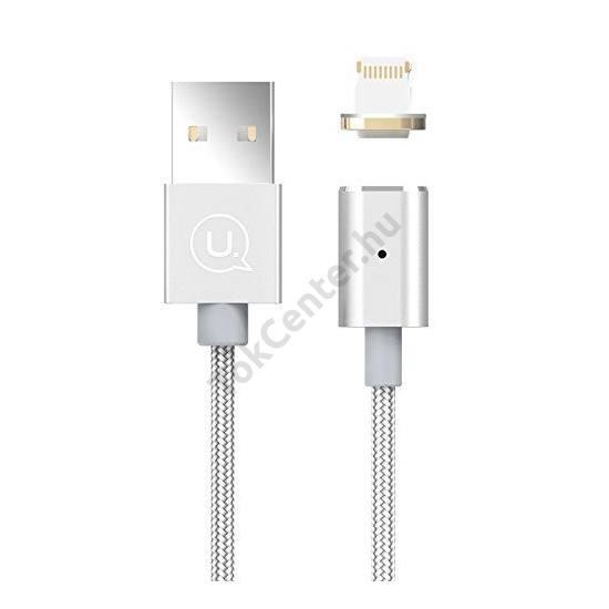 USAMS SJ133 METAL MAGNETIC MICRO USB KÁBEL EZÜST