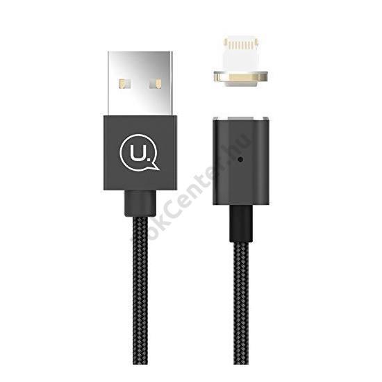 USAMS SJ133 METAL MAGNETIC MICRO USB KÁBEL FEKETE