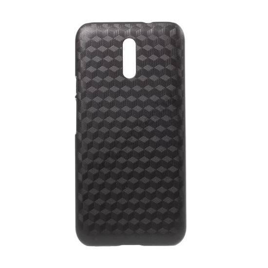 DOOGEE BL5000 Műanyag telefonvédő (ultravékony, 3D, kockaminta) FEKETE