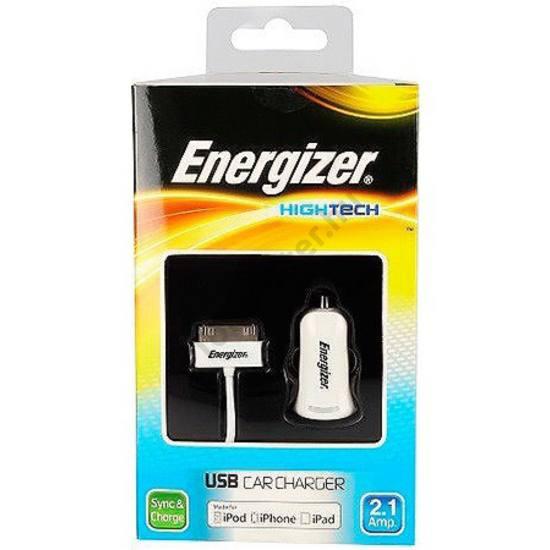 Energizer 30tűs/iphone szivargy. töltő,1usb,2.1A