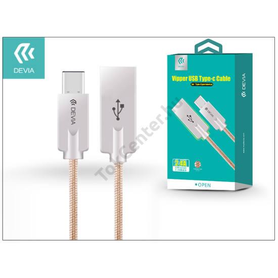 USB - USB Type-C adat- és töltőkábel 1,2 m-es vezetékkel - Devia Vipper USB Type-C Cable - gold