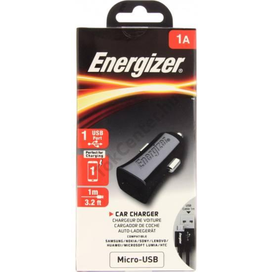 Energizer micro usb autós töltő,1usb,1A