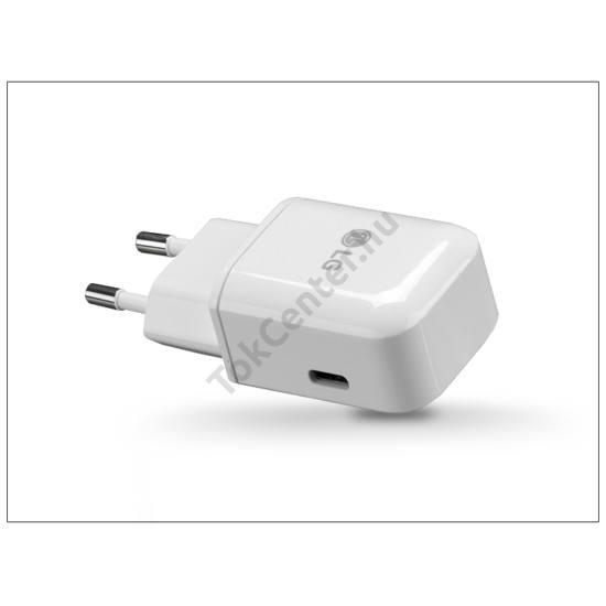 LG USB Type-C gyári hálózati töltő adapter - 5V/3A - MCS-N04ER Type-C 3.0 - white