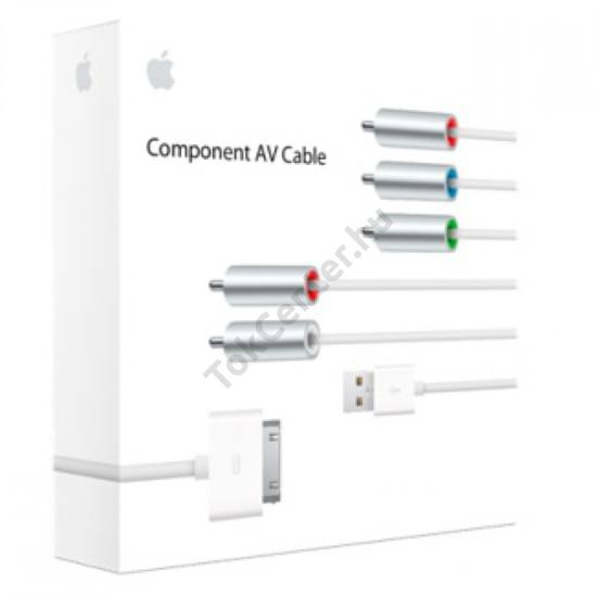 Apple Component AV kábel, gyári 30tűs/iphone
