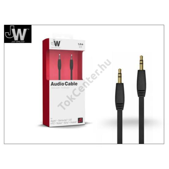 3,5 - 3,5 mm jack audio kábel 1,8 m-es vezetékkel - Just Wireless Audio Cable - fekete