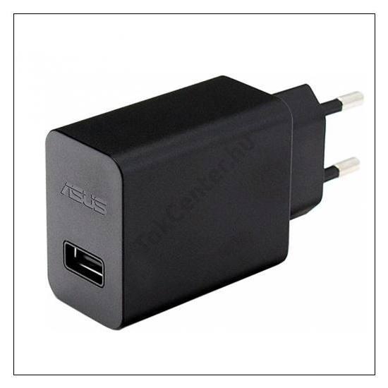 Hálózati töltő USB aljzat (5V / 1000mA, kábel NÉLKÜL!) FEKETE