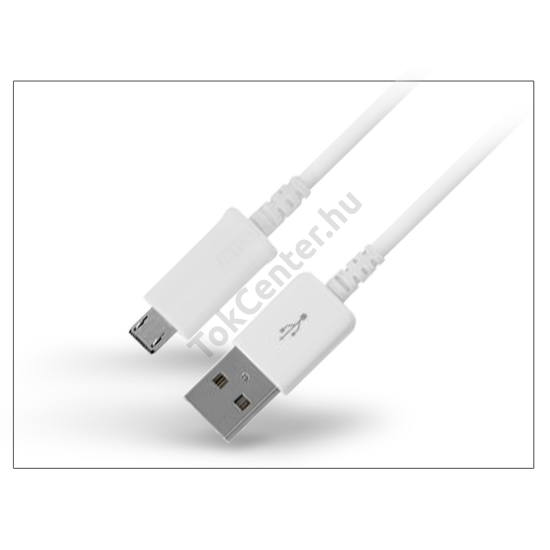 USB - micro USB adat- és töltőkábel 100 cm-es vezetékkel - fehér