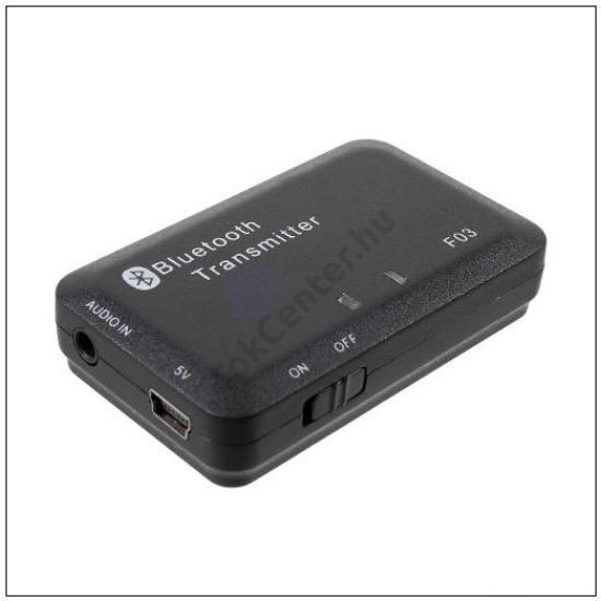 BLUETOOTH audió adapter (v4.0, 250mAh belső akku, 3.5 mm jack aljzat, AUX és USB táp kábel) FEKETE
