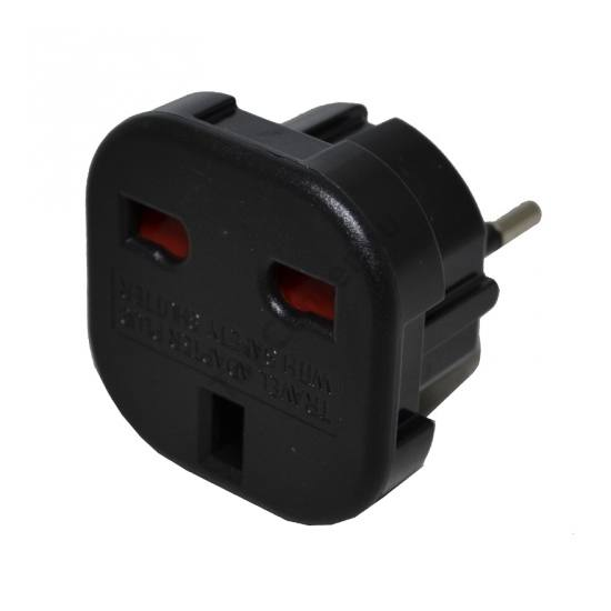 Hálózati adapter UK3 pin / EU2 pin FEKETE