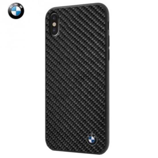 Apple iPhone X 5.8 / Apple iPhone XS 5.8 BMW SIGNATURE műanyag telefonvédő (szilikon keret, karbon minta) FEKETE
