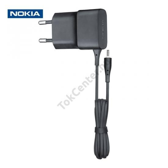 Hálózati töltő (2mm, 5V / 450 mA, energia takarékos) FEKETE
