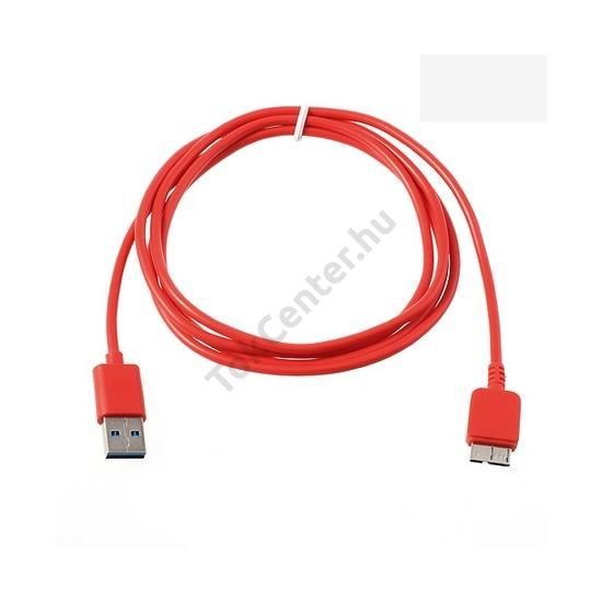 Adatátvitel adatkábel és töltő (micro-B USB 3.0, 150 cm hosszú) PIROS