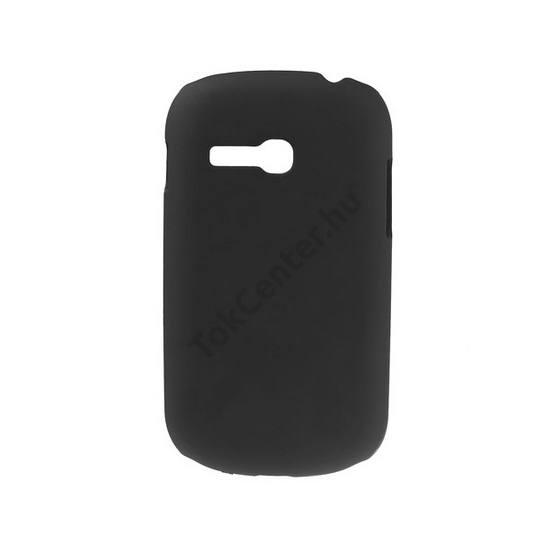 Samsung Galaxy Fame Lite (GT-S6790) Műanyag telefonvédő gumírozott FEKETE