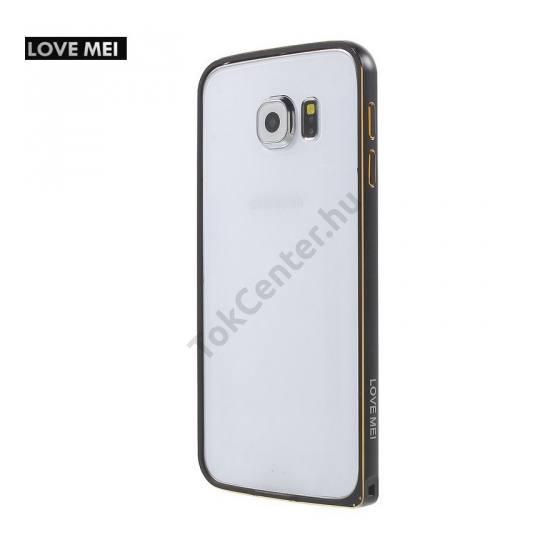 Samsung Galaxy S6 (SM-G920) LOVE MEI telefonvédő alumínium keret (BUMPER) FEKETE
