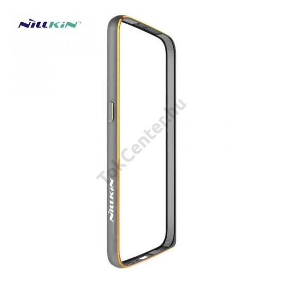 Samsung Galaxy S6 (SM-G920) NILLKIN GOTHIC BORDER telefonvédő alumínium keret (BUMPER) SZÜRKE