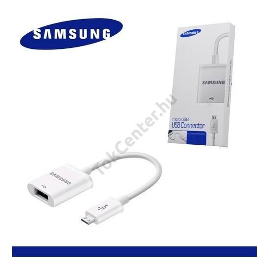 Adapter kábel (USB/pendrive csatlakoztatás, OTG) FEHÉR