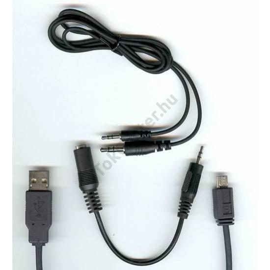 Nokia Ngage Kommunikációs adatkábel, (USB, szerviz funkció, 2.5mm/3.5mm jack dugó, és 2.5mm jack dugó, 3.5mm jack aljzat) FEKETE