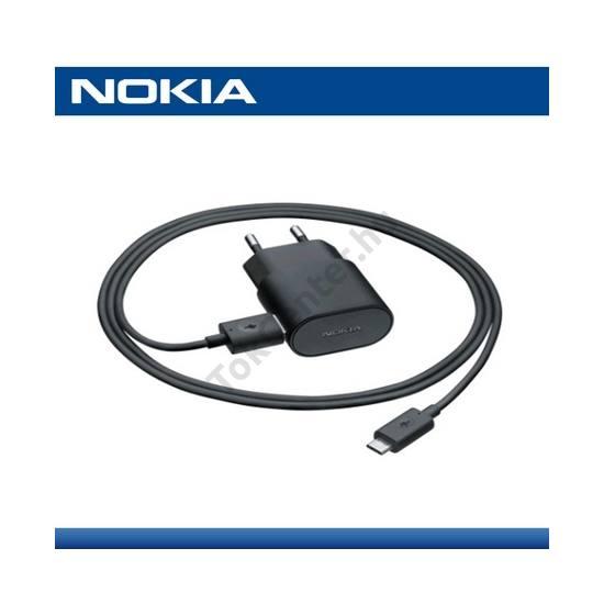 Hálózati töltő USB aljzat (5V / 1300 mA, CA-190CD microUSB kábel) FEKETE