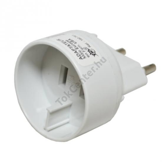 Hálózati adapter US2 pin / EU2 pin FEHÉR