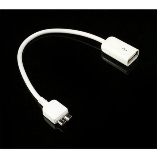 Adapter kábel (micro-B USB 3.0, OTG, USBstick/pendrive csatlakoztatás) FEHÉR