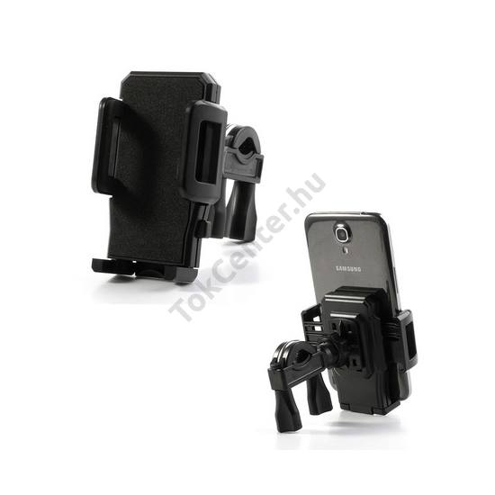 c24bfc9ca5f2 UNIV telefon tartó kerékpár / bicikli (360°-ban forgatható, kormányra  rögzíthető) FEKETE