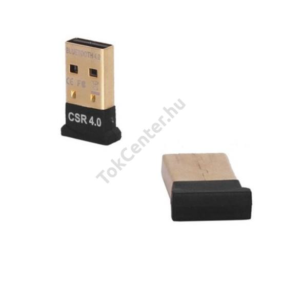 BLUETOOTH adapter USB 4.0, 20 m, szupermini FEKETE