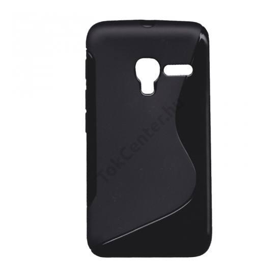 Alcatel Pixi 3 (4) ; (OT-4013) Telefonvédő gumi / szilikon (S-line) FEKETE