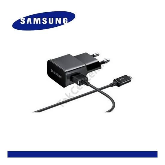 Hálózati töltő USB aljzat (ECC1DU4BBE/ECB-DU5AB microUSB kábel, 5V / 2000mA) FEKETE