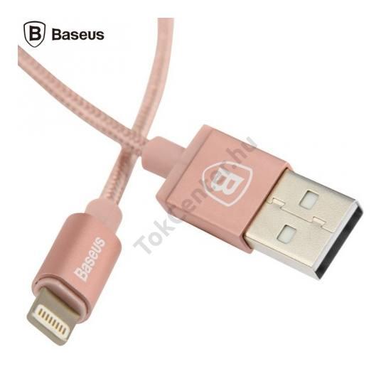 BASEUS adatátvitel adatkábel és töltő (Lightning 8pin, 1m, iOS7 támogatás, MFi Apple engedélyes) ROZÉARANY