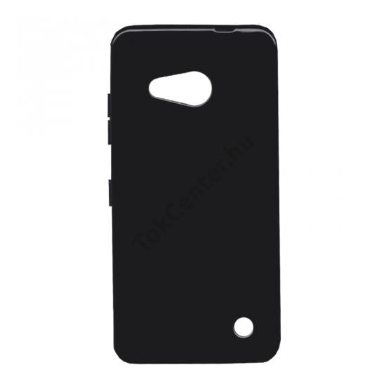Microsoft Lumia 550 Telefonvédő gumi / szilikon FÉNYES FEKETE