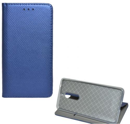 LG G7 ThinQ (G710EM) Tok álló, bőr (FLIP, oldalra nyíló, asztali tartó funkció, rombuszminta) SÖTÉTKÉK