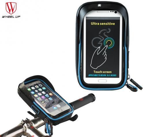 422ffd787d25 WHEEL UP telefon tartó kerékpár (360°-ban forgatható, napellenző, kormányra  rögzíthető, vízálló, iPhone X méret) KÉK