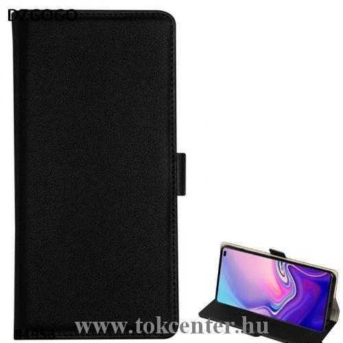 SAMSUNG Galaxy S10e (SM-G970) DZGOGO MILO tok álló, bőr (FLIP, oldalra nyíló, bankkártya tartó, asztali tartó funkció) FEKETE