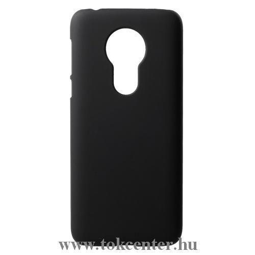 MOTOROLA Moto G7 Power (XT1955) Műanyag telefonvédő (gumírozott) FEKETE