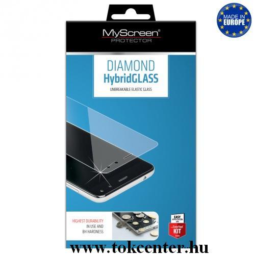LG V40 ThinQ MYSCREEN HYBRIDGLASS képernyővédő üveg (flexibilis, karcálló, ütésálló, 0.15mm, 8H, nem íves) ÁTLÁTSZÓ