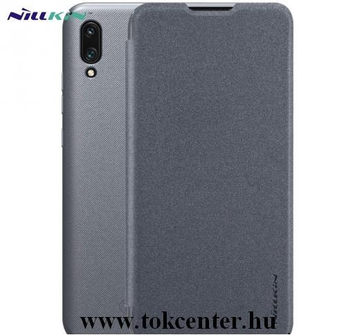 Huawei P30 Lite (Nova 4e) NILLKIN SPARKLE műanyag telefonvédő (mikroszálas bőr flip, oldalra nyíló) FEKETE