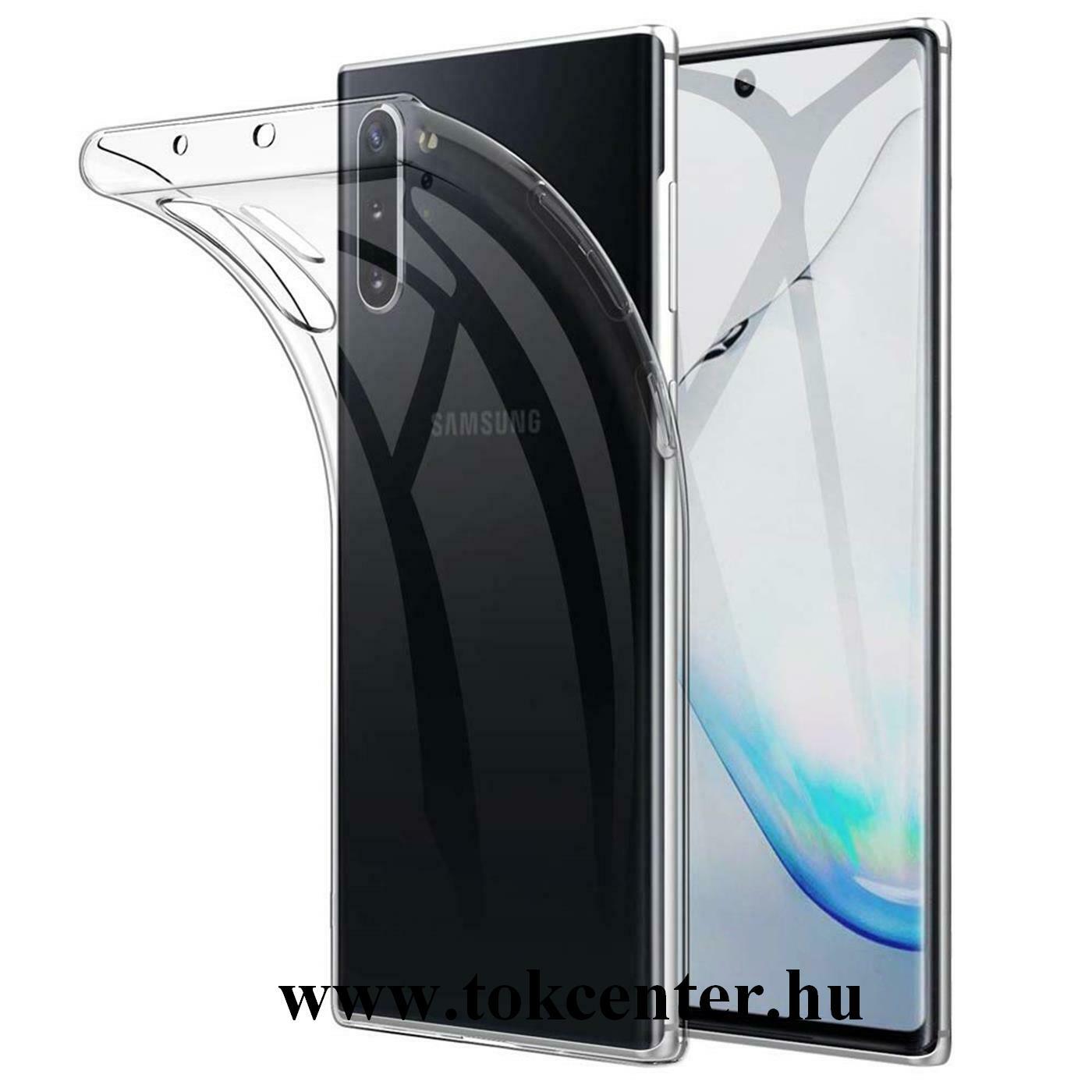 Samsung Galaxy Note 10 Plus Szilikon telefonvédő (ultravékony) ÁTLÁTSZÓ