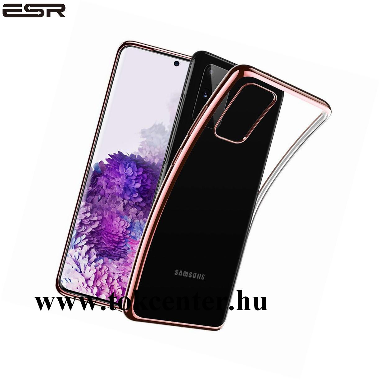 Samsung Galaxy S20 Plus (SM-G985F) ESR ESSENTIAL CROWN szilikon telefonvédő (közepesen ütésálló) ROZÉARANY