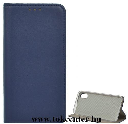 Samsung Galaxy S10 Lite (SM-G770F) Tok álló, bőr hatású (FLIP, oldalra nyíló, asztali tartó funkció) SÖTÉTKÉK