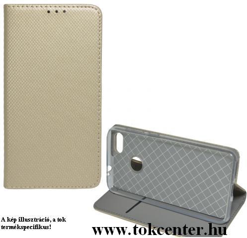 Huawei Y5p Tok álló, bőr hatású (FLIP, oldalra nyíló, asztali tartó funkció, rombusz minta) ARANY