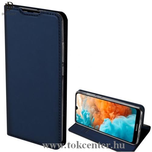 Samsung Galaxy M01 (SM-M015F) DUX DUCIS SKIN PRO tok álló, bőr hatású (FLIP, oldalra nyíló, bankkártya tartó, asztali tartó funkció) SÖTÉTKÉK