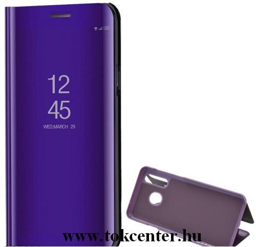 Xiaomi Pocophone F2 Pro Tok álló (aktív flip, oldalra nyíló, asztali tartó funkció, tükrös felület, Mirror View Case) LILA