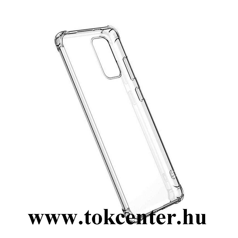 Honor X10 5G Szilikon telefonvédő (közepesen ütésálló, légpárnás sarok) ÁTLÁTSZÓ