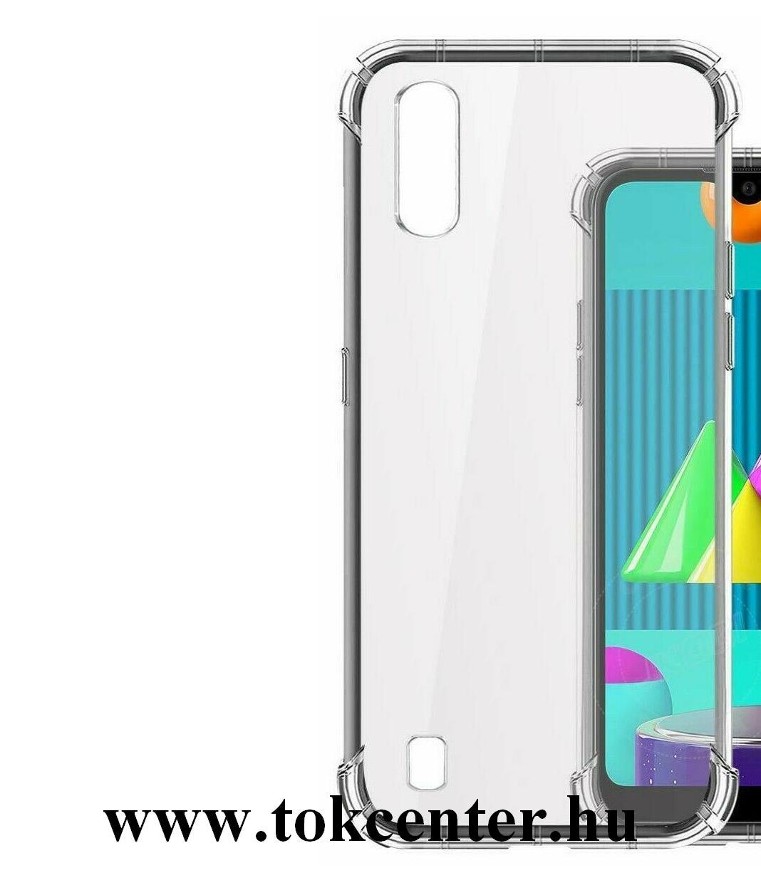 Samsung Galaxy M01 (SM-M015F) Szilikon telefonvédő (közepesen ütésálló, légpárnás sarok) ÁTLÁTSZÓ