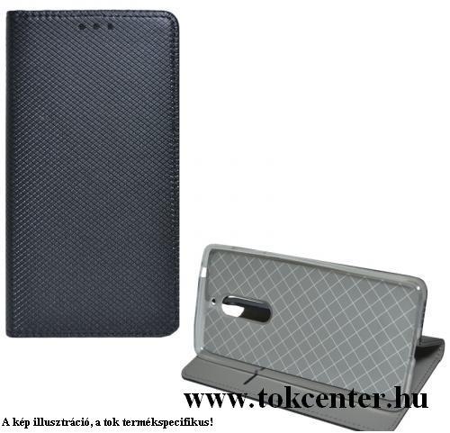 Samsung Galaxy S20 FE (SM-G780) Tok álló, bőr hatású (FLIP, oldalra nyíló, asztali tartó funkció, rombusz minta) FEKETE