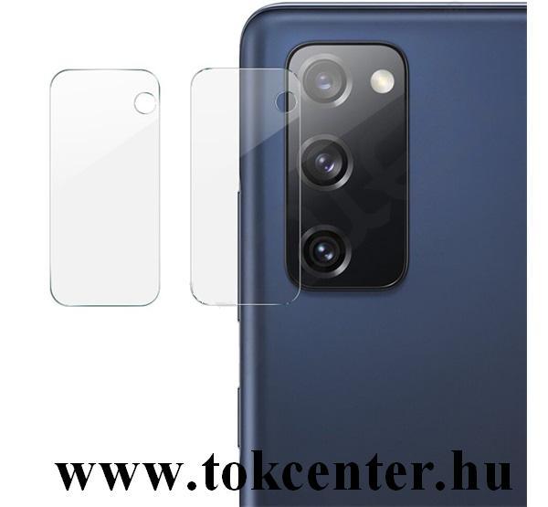 Samsung Galaxy S20 FE (SM-G780) IMAK kameravédő üveg (2 db, lekerekített szél, karcálló, 0.2 mm, 9H) ÁTLÁTSZÓ