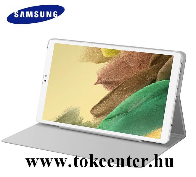 Samsung Galaxy Tab A7 Lite LTE (SM-T225) / Galaxy Tab A7 Lite WIFI (SM-T220) Gyári tok álló (aktív flip, oldalra nyíló, asztali tartó funkció, érintőceruza tartó) VILÁGOSSZÜRKE (EF-BT220PSEGWW)