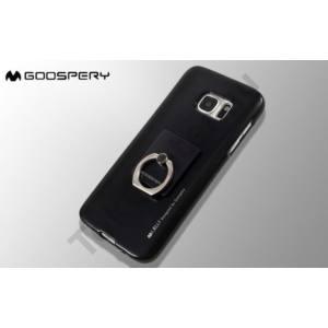 MERCURY GOOSPERRY I-JELLY + RING IPHONE 5/5S/SE TPU TOK FEKETE