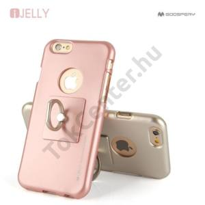 MERCURY GOOSPERRY I-JELLY + RING IPHONE 7/8 4.7 TPU TOK ROSE GOLD