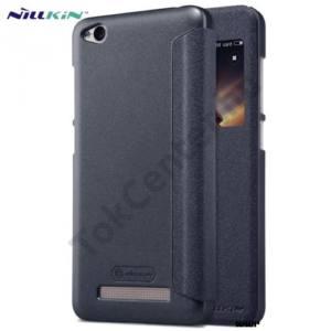 XIAOMI Redmi 4A Pro NILLKIN SPARKLE műanyag telefonvédő (mikroszálas bőr aktív flip, oldalra nyíló, S-View Cover) FEKETE